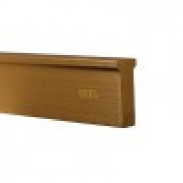 Wooden Door Handle Profile-Black Brushed-168mm