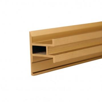 Aluminium Deco Profile-Brushed Gold-40.1