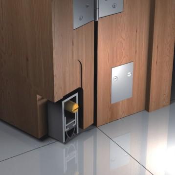Aluminium Concealed Door Seal Profile 900mm