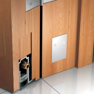 Aluminium Concealed Door Seal Profile C2 - For Heavy Doors - 1200mm
