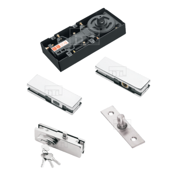 Floor Hinge Combo Pack With Lock - 80Kg