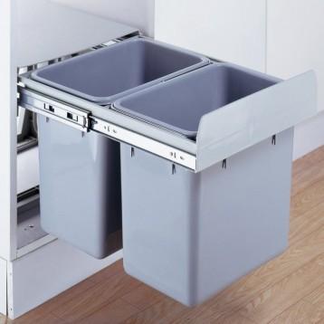 Cabinet Dustbin - 2 Waste Bin - 24 ltr