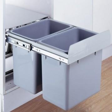 Cabinet Dustbin - 2 Waste Bin - 16 ltr