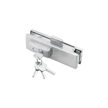 BTL Pure Aluminium 7.5 mm thick - Centre Patch Lock For Glass Door