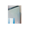 Back Paint Glass Shutter Profile Frame - Silver Anodised - 2122