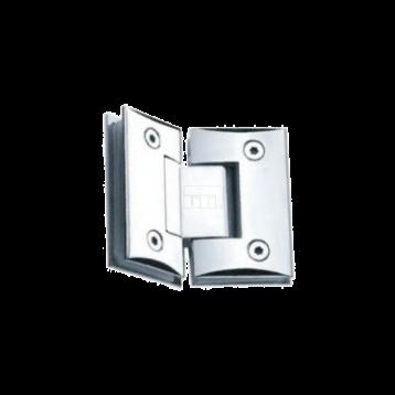 BTL BSH-Z-3-CP Shower Hinges - Glass to Glass 135 Degree - Zinc CP