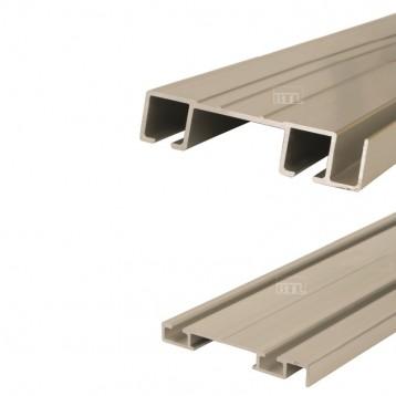 Aluminium Sliding Double Track Top and Bottom - 2.44 Mtr - Deco