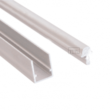 BTL Aluminium Sliding Upper and Bottom Track with Silver Finish
