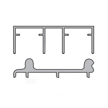 BTL Aluminium Sliding Upper and Bottom Track - BSLD-T2-2-MTR