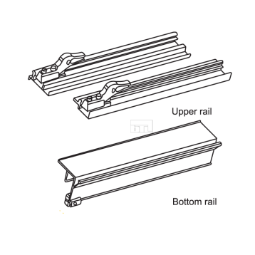 Aluminium Sliding Upper and Bottom Track for BSLD-25SC - 2Mtr
