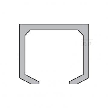 BTL BSLD-T3 Aluminium Sliding Upper Track - Length 3mtr