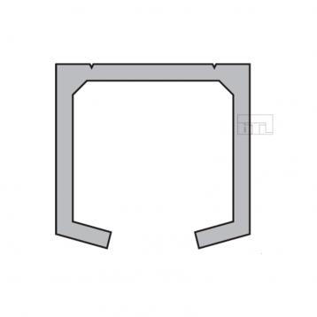 BTL BSLD-T4 Aluminium Sliding Upper Track - Length 3660mm