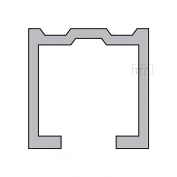 BTL BSLD-T6 Aluminium Sliding Upper Track - 3660mtr