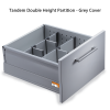 Tandem Double Height with Partition600 x 500 x 65kg Grey