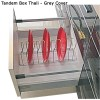 Tandem Thali with Round Railing 450 x 35Kg Grey