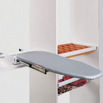 Wardrobe Folding Ironing Board with Channel - 90 Degree Rotation