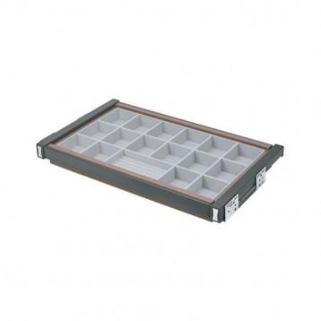 Wardrobe Jewellery Velvet Box with Concealed Slide 600mm