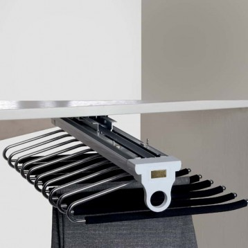 Wardrobe Lateral Trouser Rack - Top V Mounted