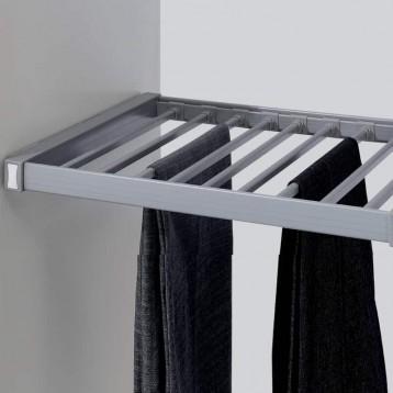 Wardrobe Trouser Rack with Concealed Slide 600mm