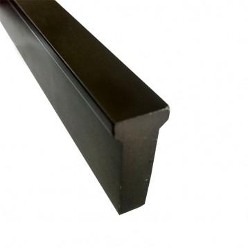 Wooden Door Handle Profile-Matt Black- 1.4 Mtr