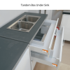 Tandem Under Sink 400 x 35kg Grey - Normal Panel Height