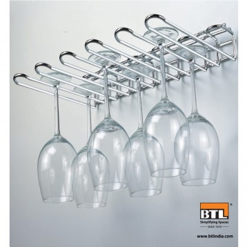 BTL WDA-GR Designer Glass Rack Makes Dull Kitchens or Bar Looks Great
