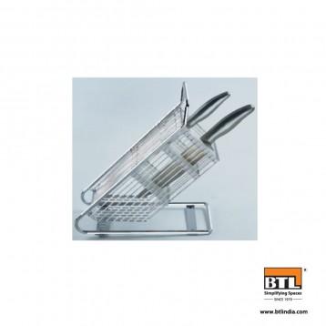 BTL Designer Kitchen Knife Holder Rack Metal Kitchen Block