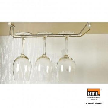 BTL Designer Ceiling Mounted Wine Rack and Glass Holder