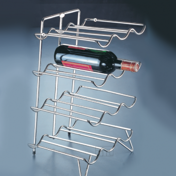 BTL Designer Wire Shelving Wine Rack - 4 Shelves for 12 Bottles