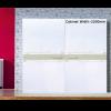 Wardrobe Inline Sliding Fitting - Cabinet Width 2200mm