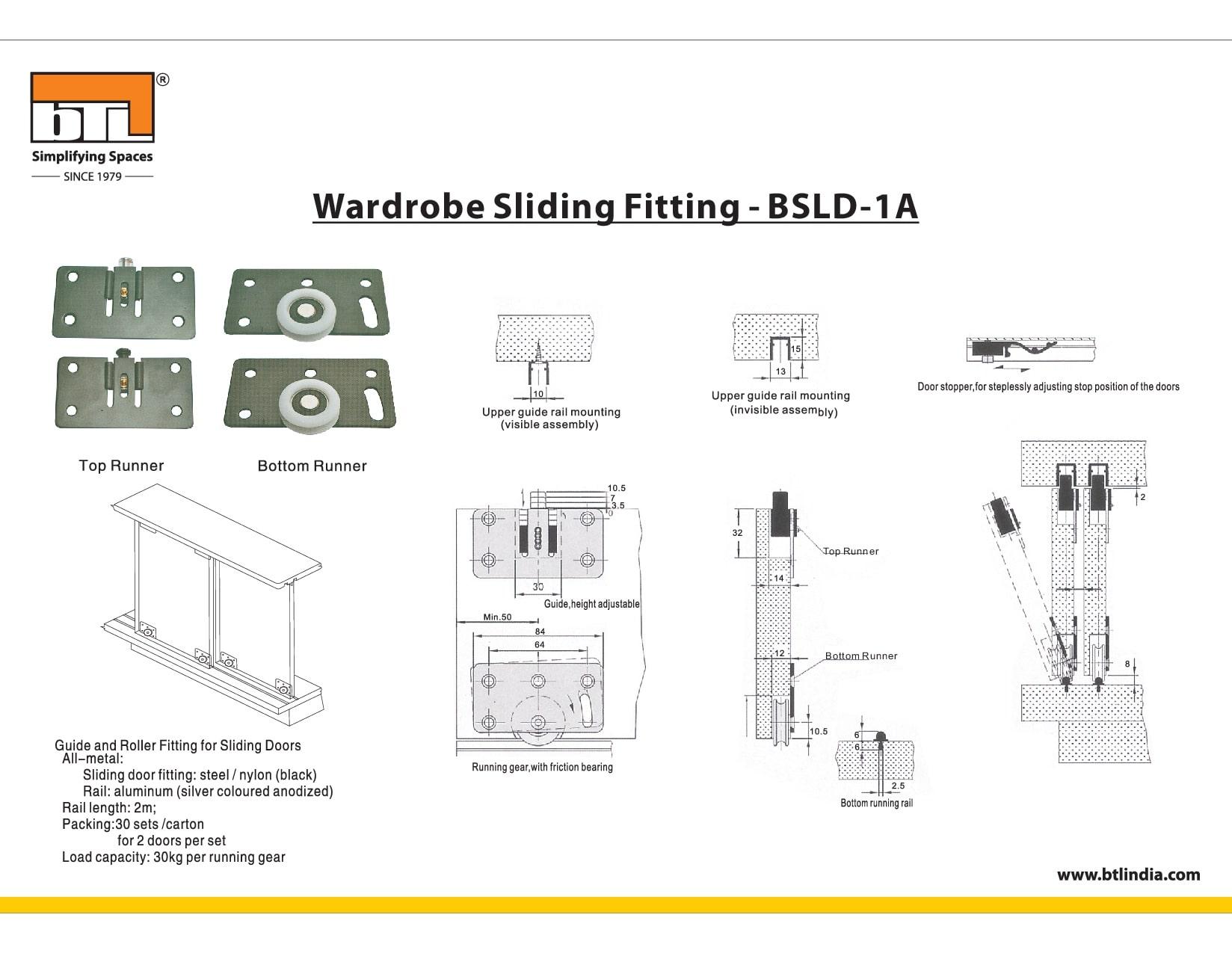 BTL BSLD-1A Wardrobe Fitting - Specifications