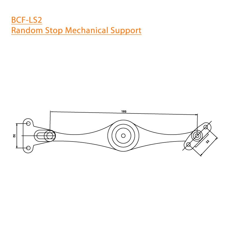 BTL Random Stop Mechanical Support - BCF-LS2 - Max Weight: 6Kg