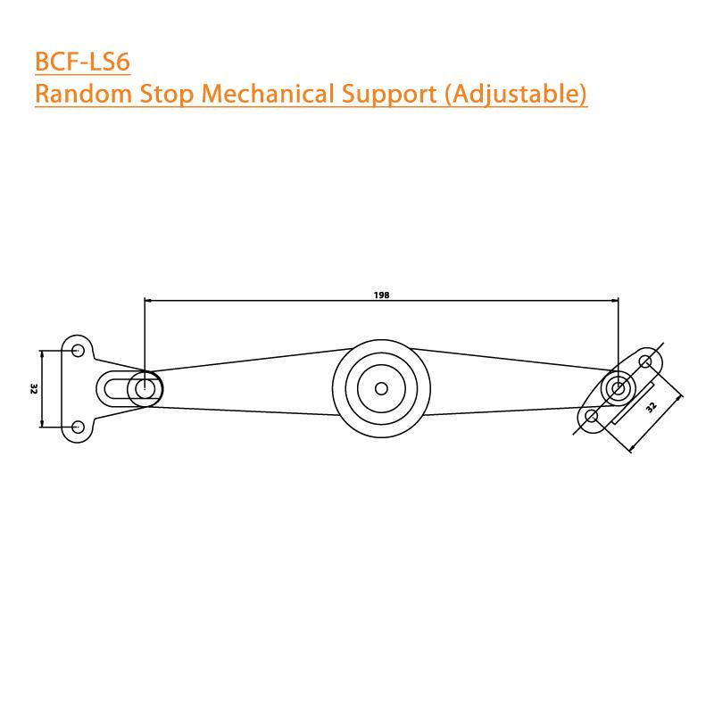 BTL BCF-LS6 Random Stop Mechanical Support Adjustable