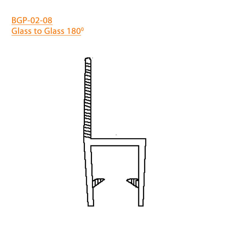 BTL BGP-02-08 Glass to Glass 180 Degree - 8 MM