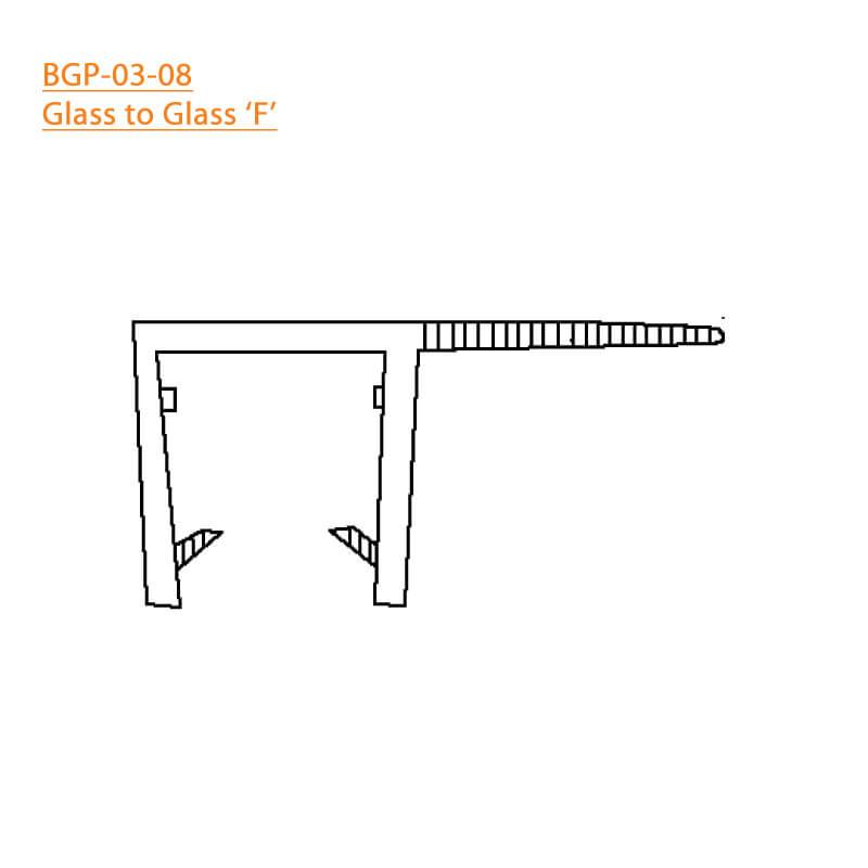 BTL BGP-03-08 Glass to Glass F - 8 MM