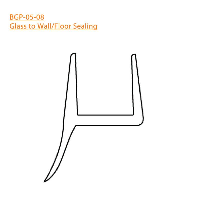 BTL BGP-05-08 Glass to Wall-Floor Sealing 05 - 8 MM