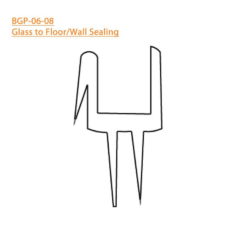 BTL BGP-06-08 Glass to Floor-Wall Sealing 06 - 8 MM