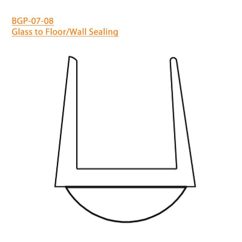 BTL BGP-07-08 Glass to Floor-Wall Sealing 07 - 8 MM