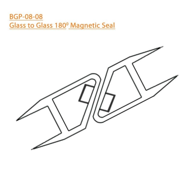 BTL BGP-08-08 Glass to Glass 180 Degree Magnetic Seal - 8 MM