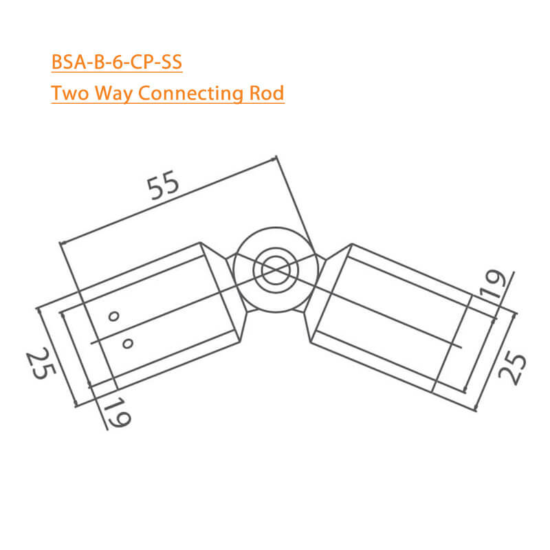 BTL BSA-B-6-CP Two Way Connecting Rod - Copper Plated