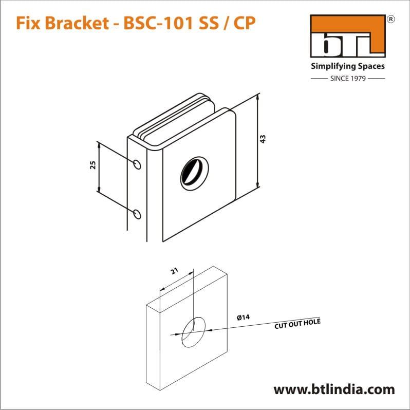 BTL BSC-101-SS Fix Bracket - SS