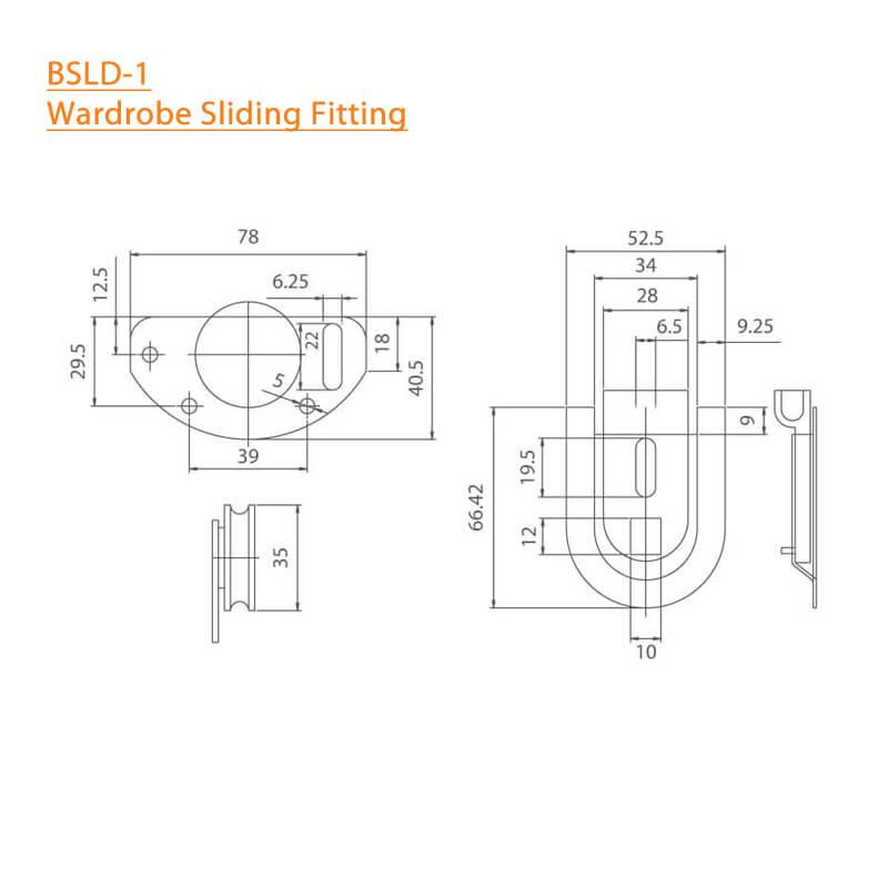 BTL Wardrobe Sliding Fitting - Specifications