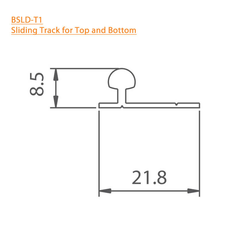 BTL BSLD-T1-2-MTR Sliding Track for Top and Bottom - Technical Specifications