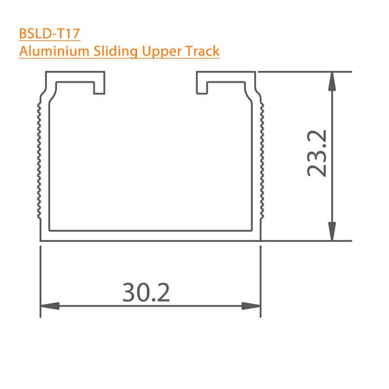 BTL Aluminium Sliding Upper Track - BSLD-T17
