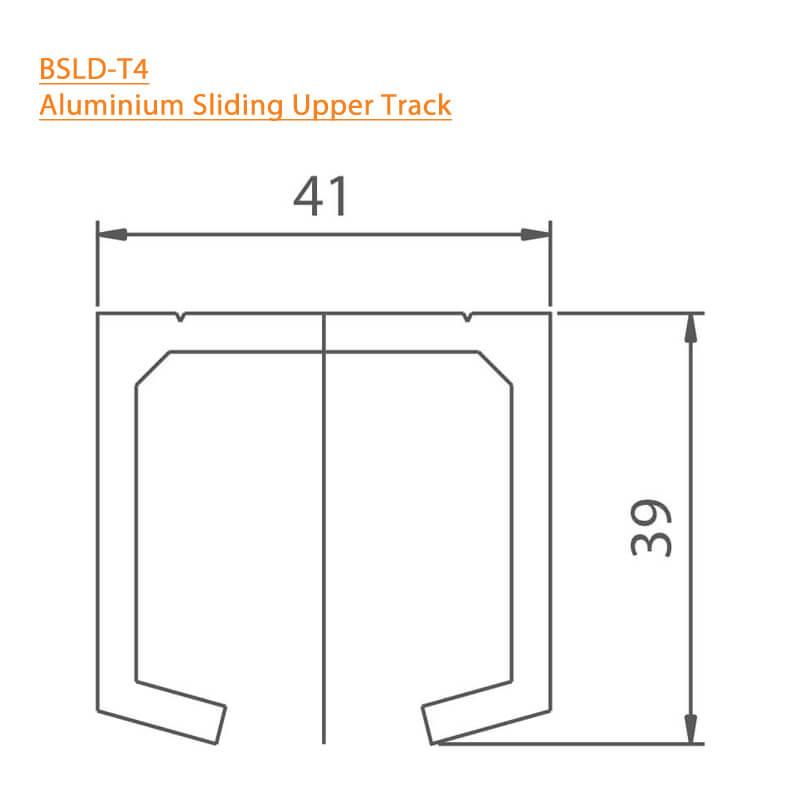 BTL Aluminium Sliding Upper Track - BSLD-T4 - Technical Specifications