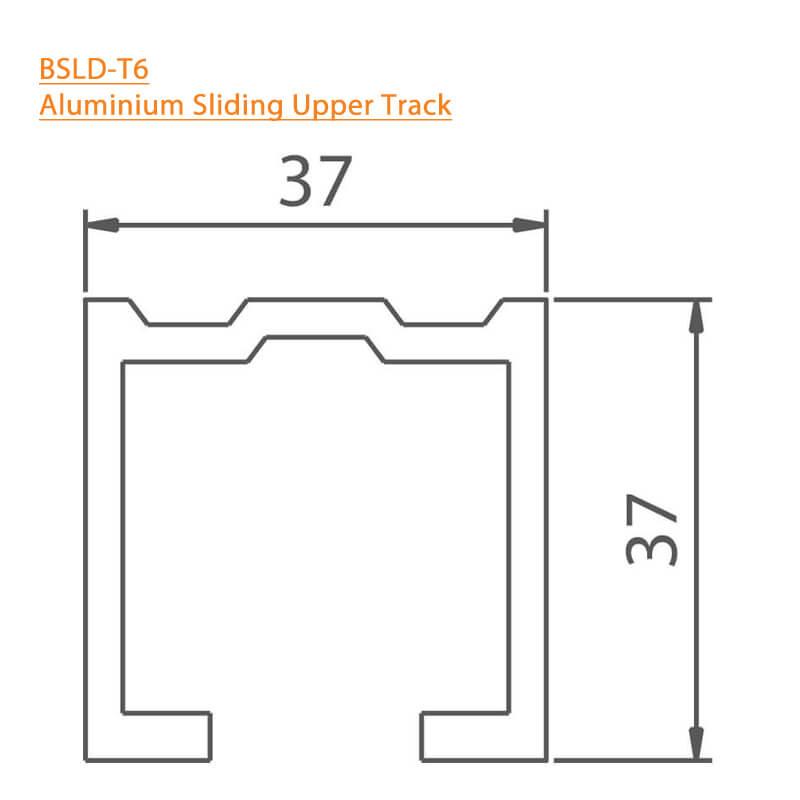 BTL Aluminium Sliding Upper Track - BSLD-T6 - Technical Specifications