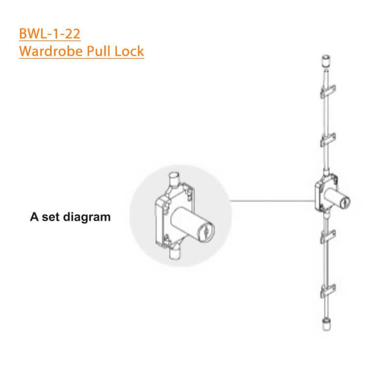 BTL Wardrobe Pull Lock - BWL-1-22