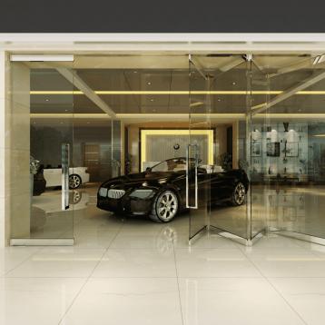 3 Doors Sliding Folding with Single Entrance Opening - 402