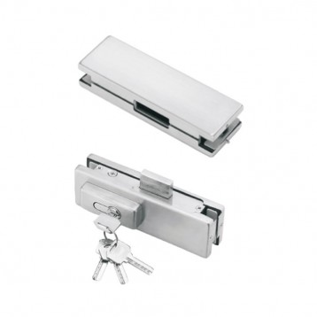 BTL Pure Aluminium Centre Patch Lock For Glass to Glass-All screws are Male-Female