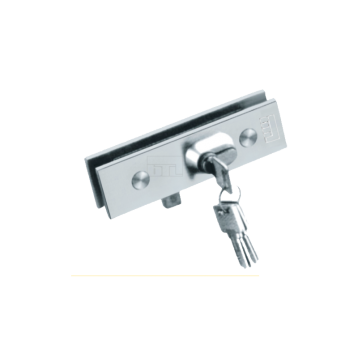 BTL Stainless Steel Finish Patch Lock Solid For Glass - Both Side Key